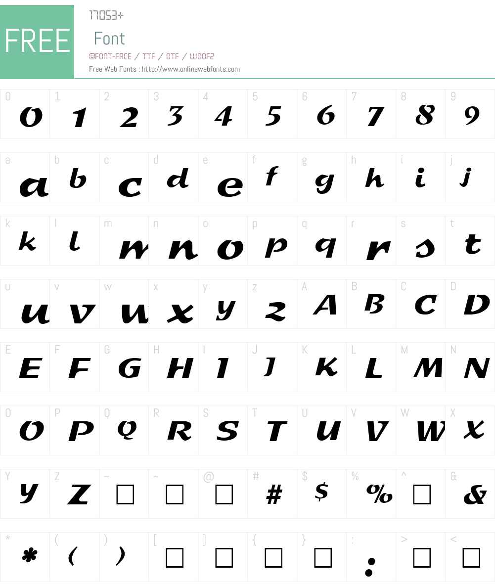 Sprint Font Screenshots