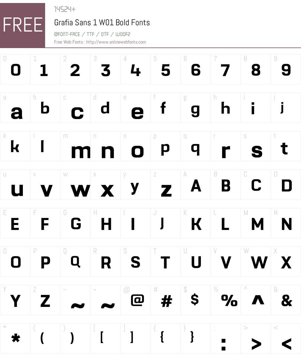 GrafiaSans1W01-Bold Font Screenshots