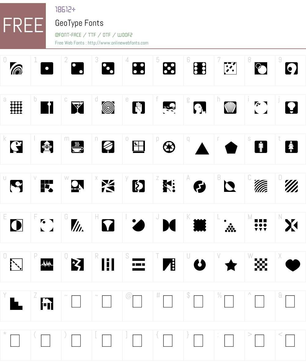 GeoType Font Screenshots