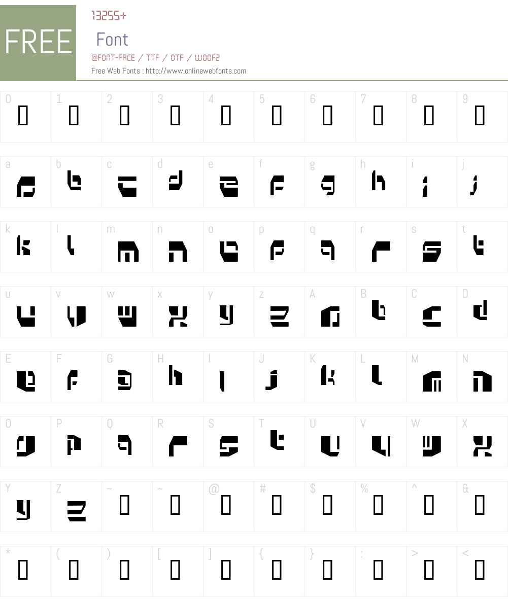 Kosmonaut Font Screenshots