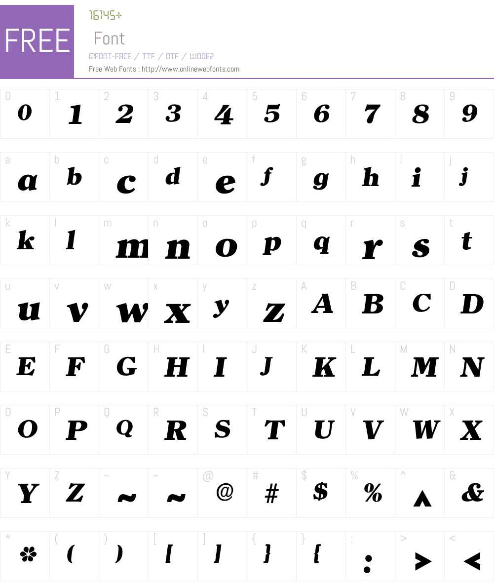 Iclerface Font Screenshots