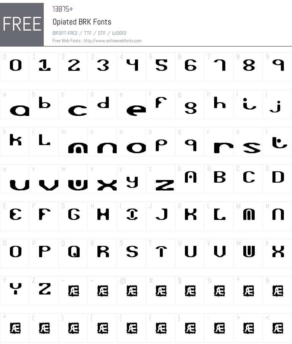 Opiated BRK Font Screenshots