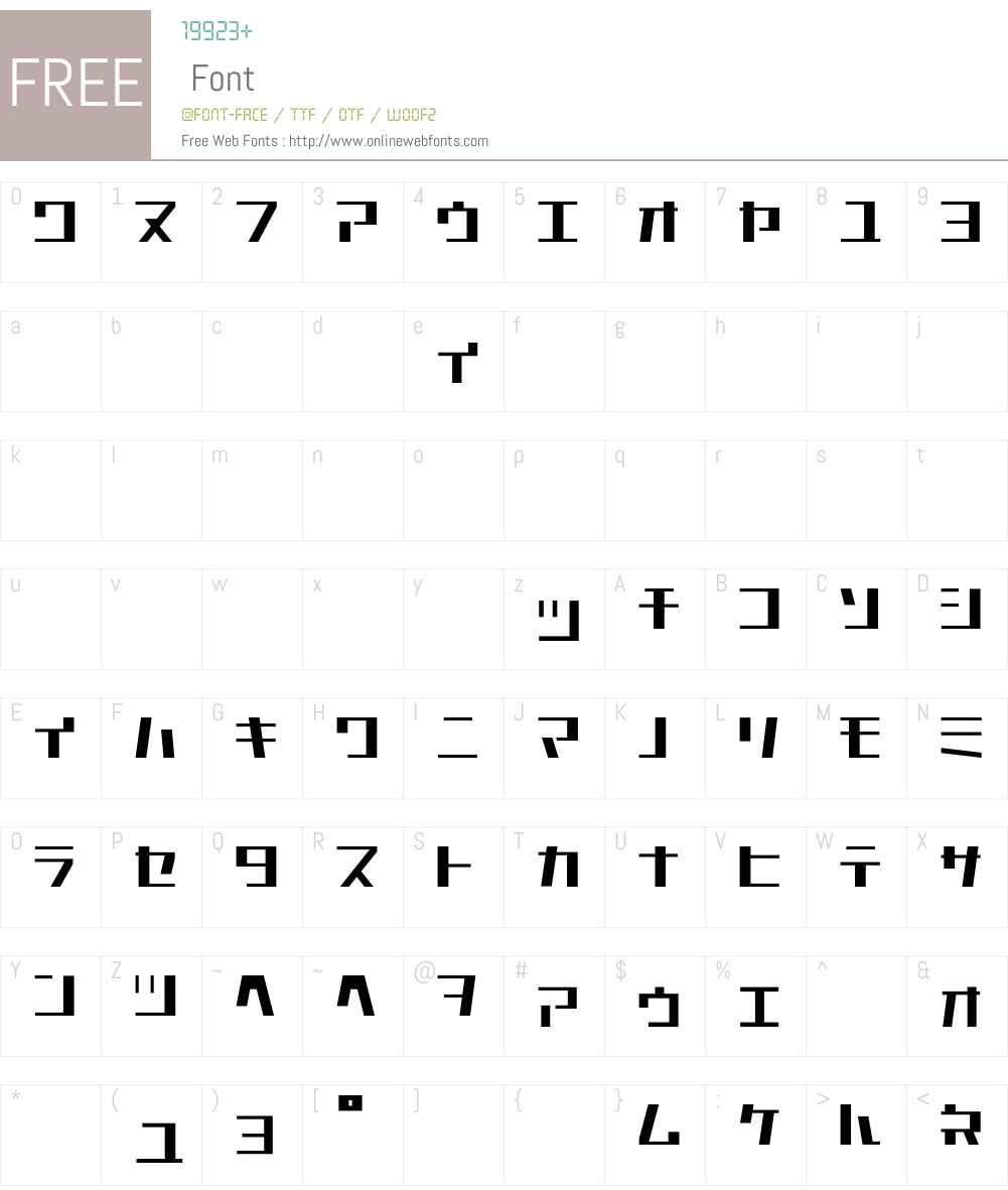 Astro Font Screenshots