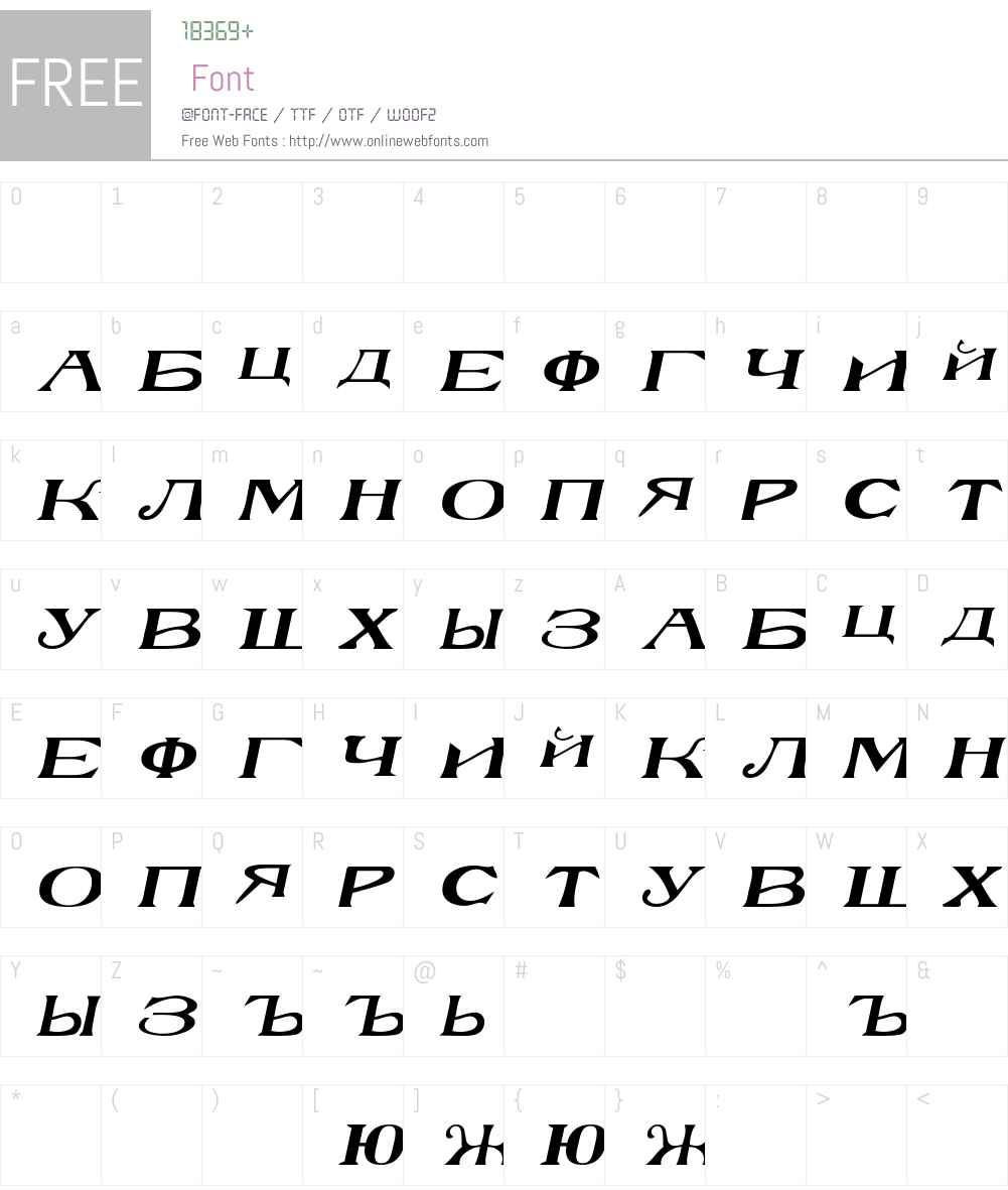 RussianBlock Font Screenshots