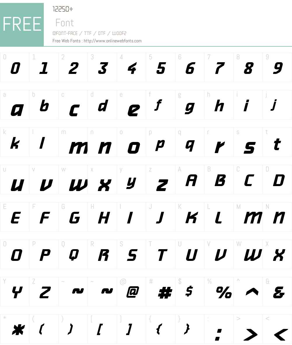 AlphavilleW00-BoldObl Font Screenshots