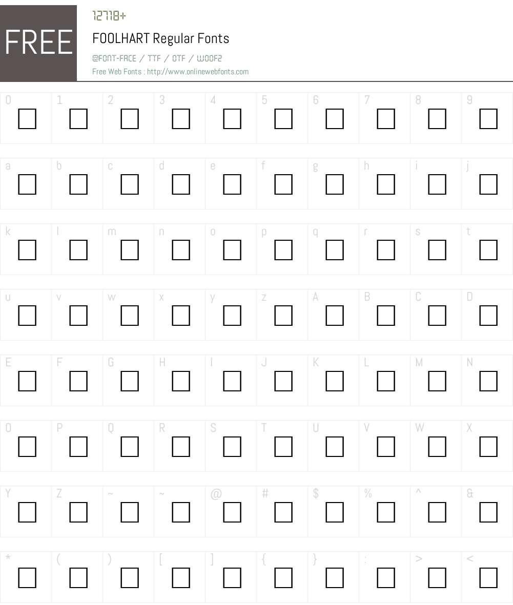 FOOLHART Font Screenshots