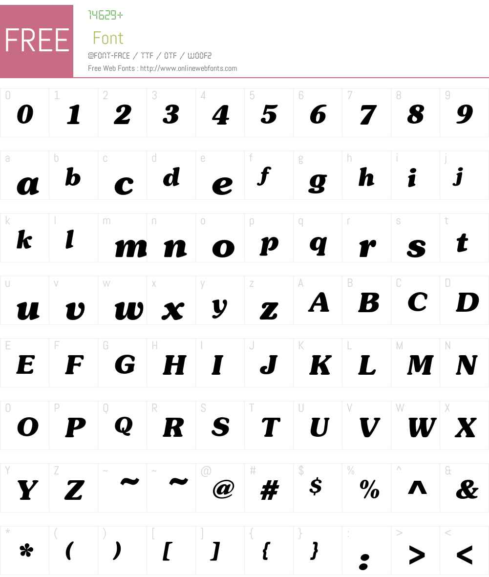 SouvenirEF-BoldItalic Font Screenshots