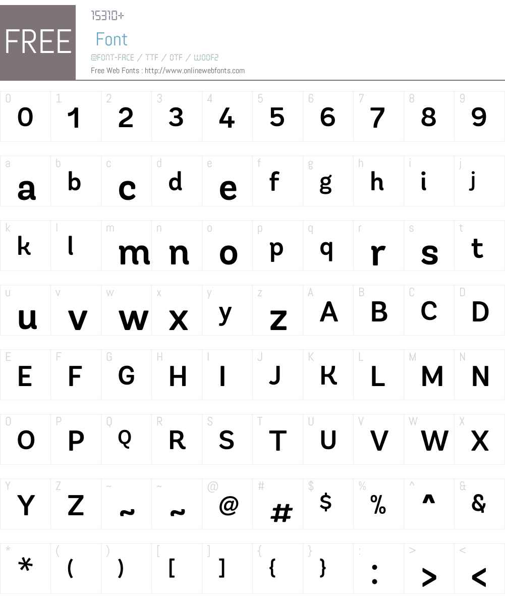 Andes Rounded Font Screenshots