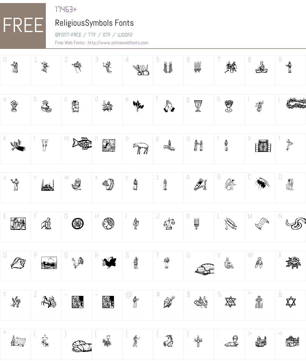 ReligiousSymbols Font Screenshots