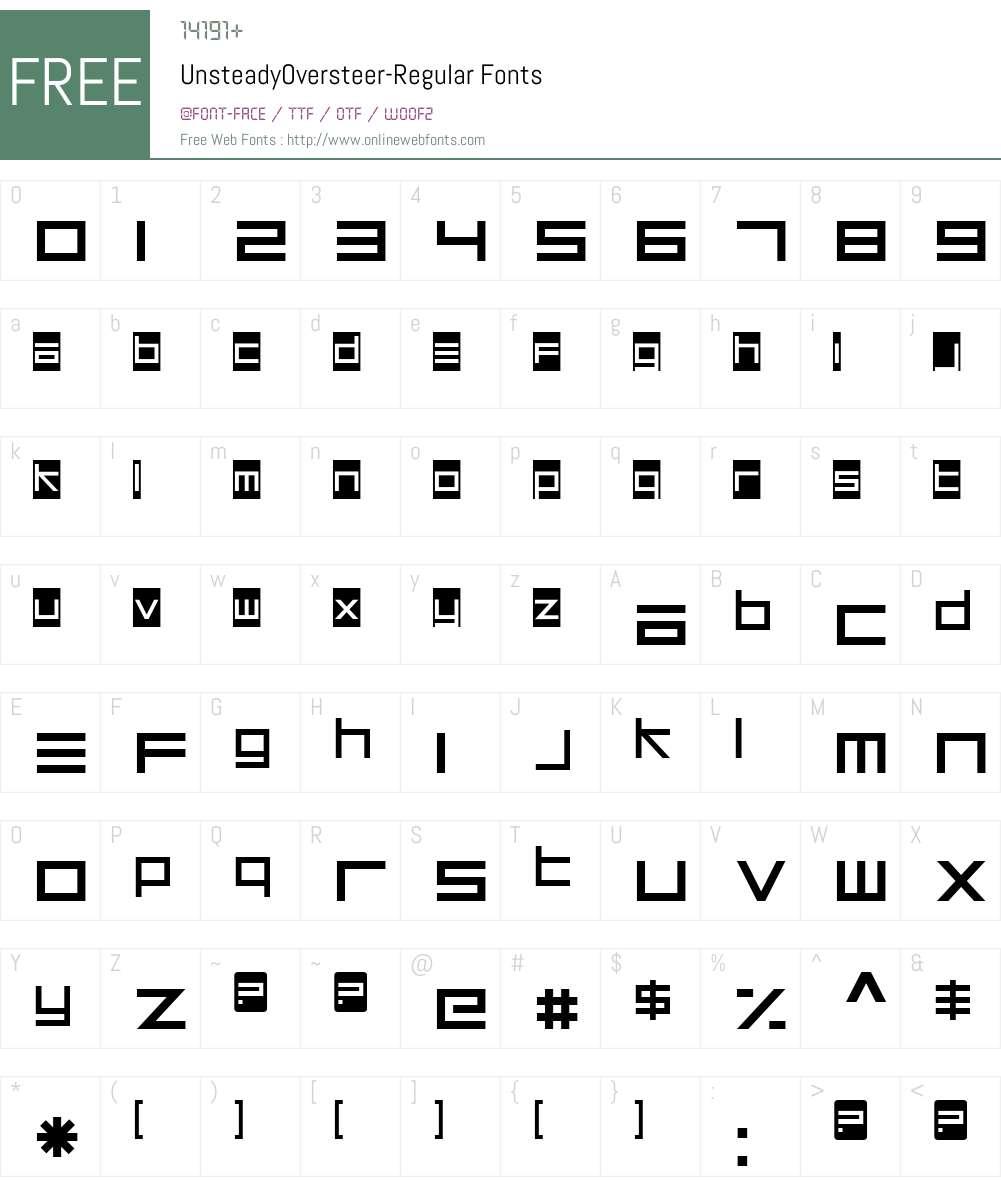 Unsteady Oversteer Font Screenshots