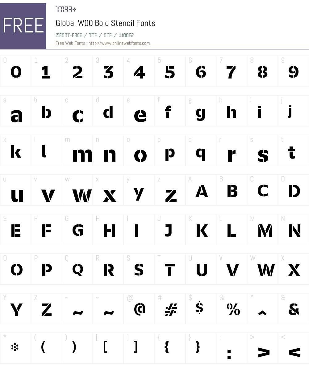 Global Font Screenshots