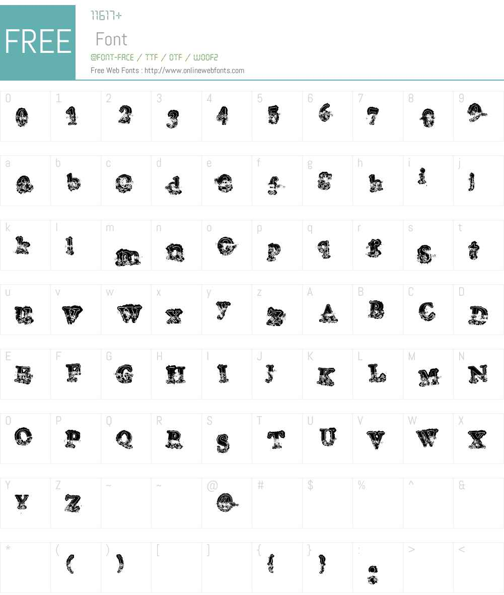 Mohawk Font Screenshots