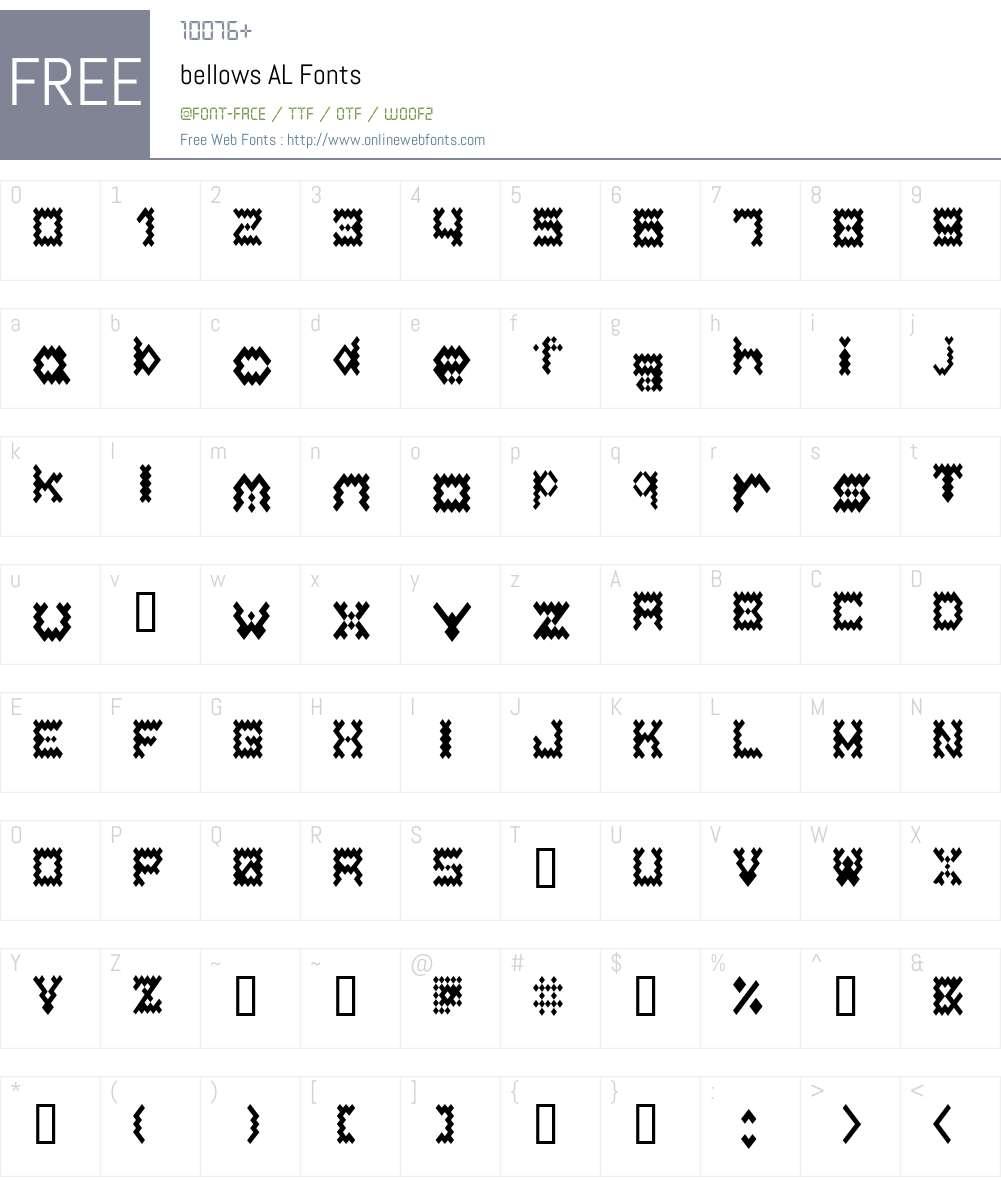bellows Font Screenshots
