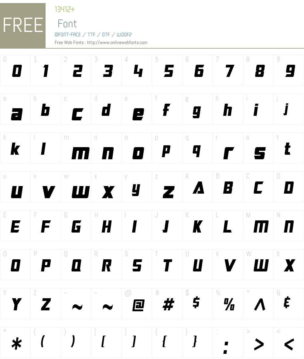 SF TransRobotics Condensed Font Screenshots
