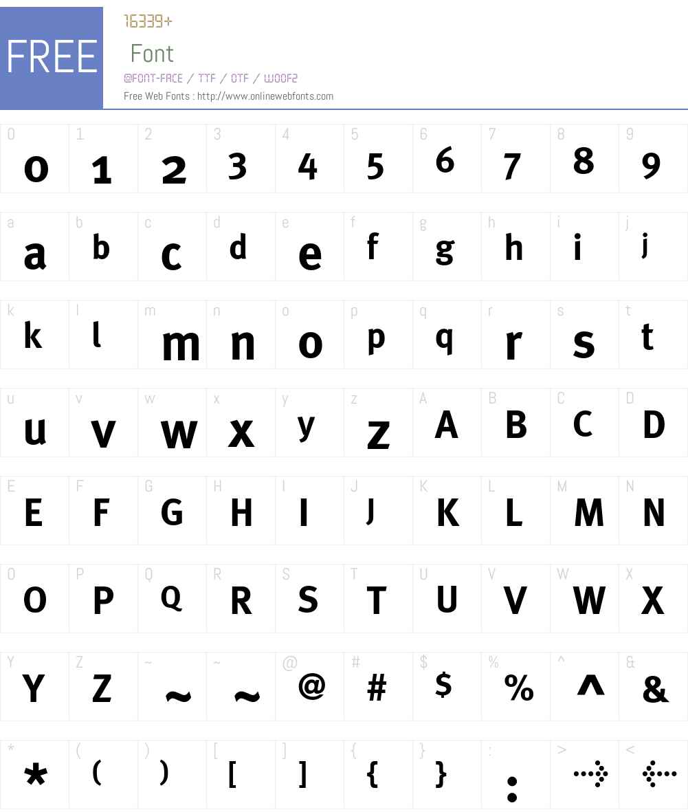 MetaPlusBold- Font Screenshots