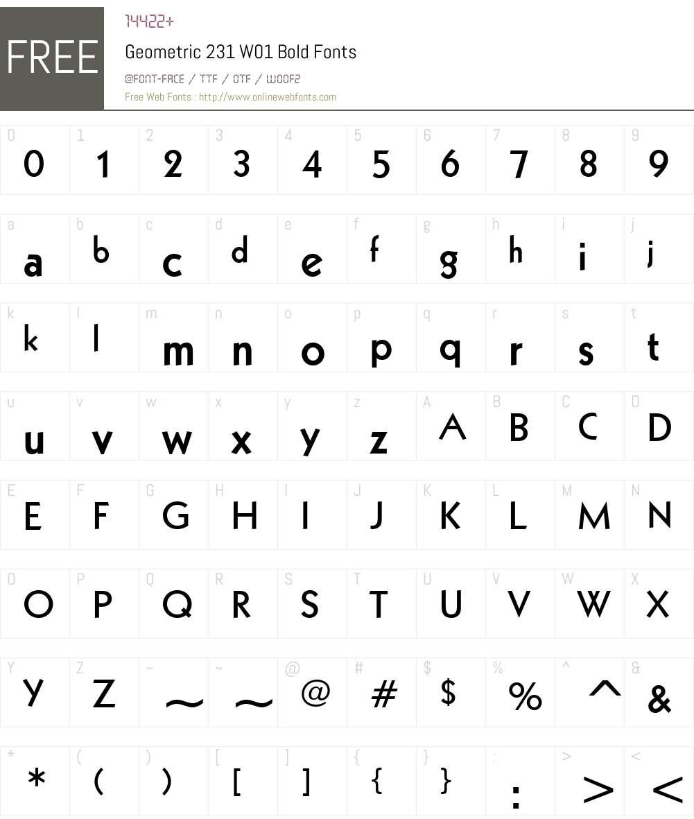 Geometric231W01-Bold Font Screenshots