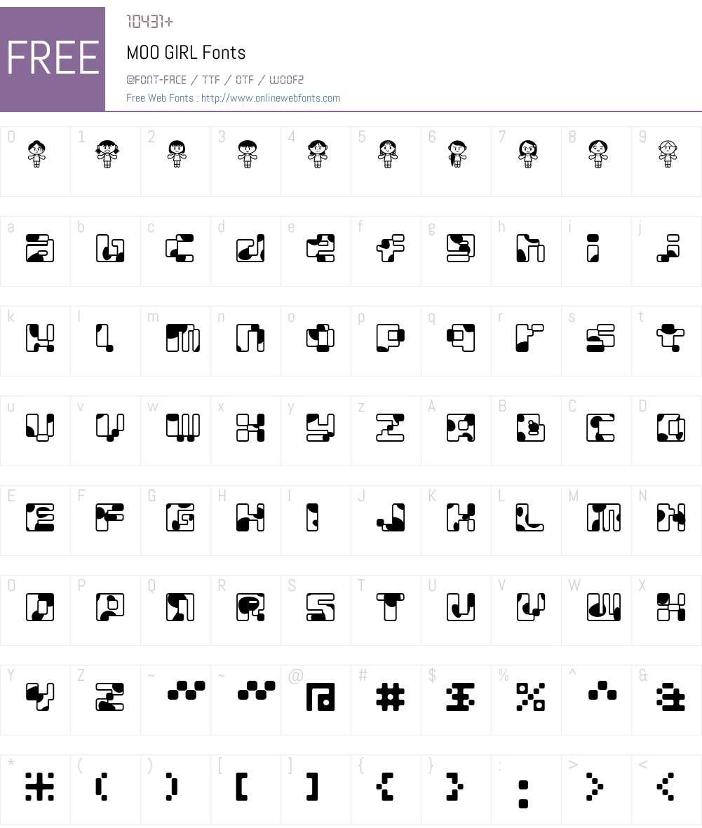 MOO Font Screenshots