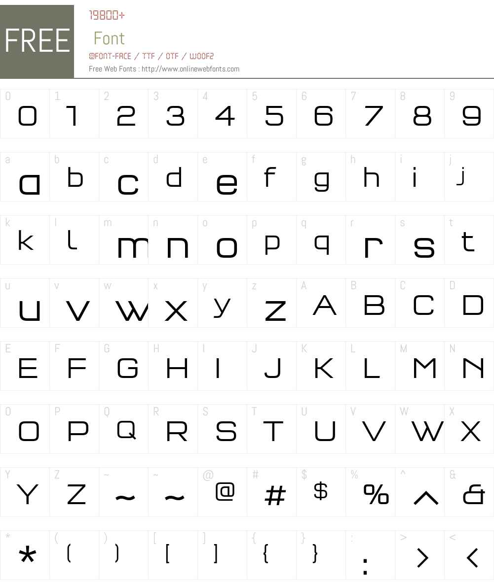 QTypeSquare-Light Font Screenshots