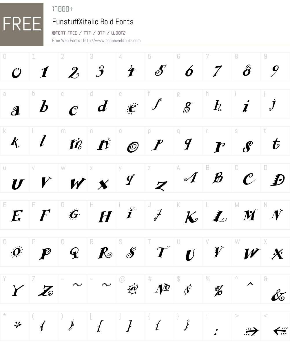 FunstuffXitalic Font Screenshots