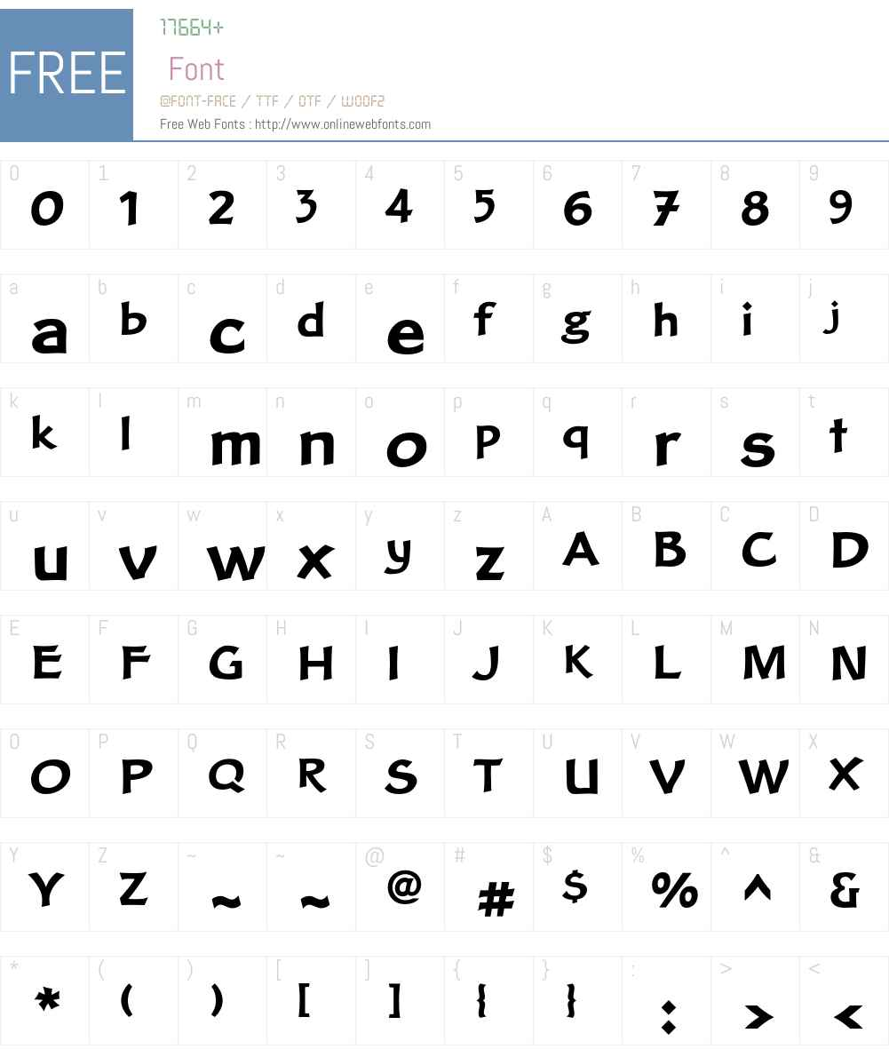 Clair Font Screenshots