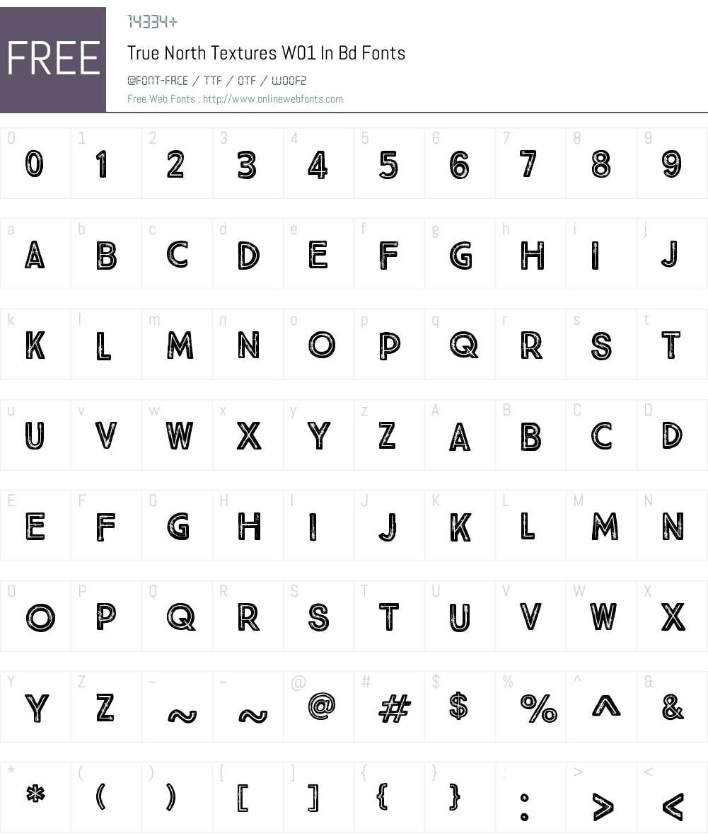 TrueNorthTexturesW01-InBold Font Screenshots