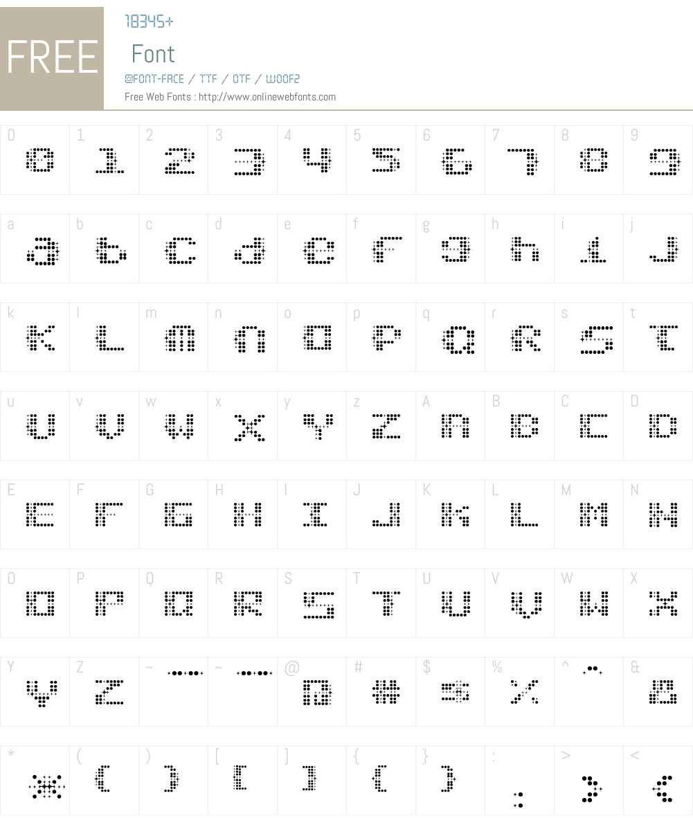 Stardust Font Screenshots