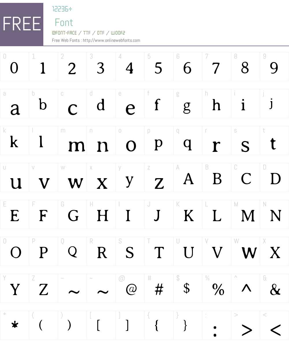 Averia Serif Font Screenshots