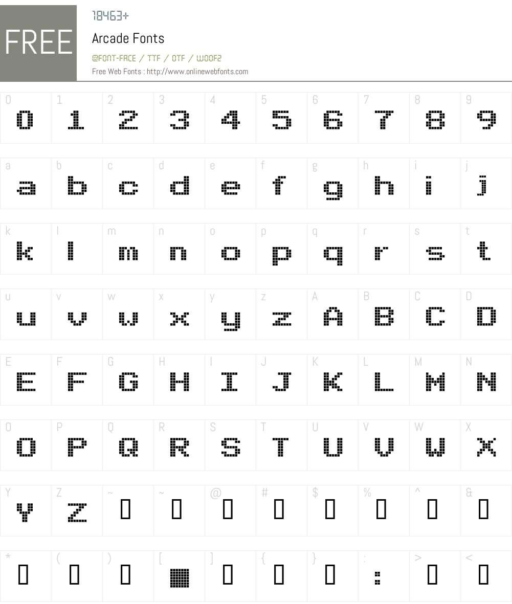 Arcade Font Screenshots