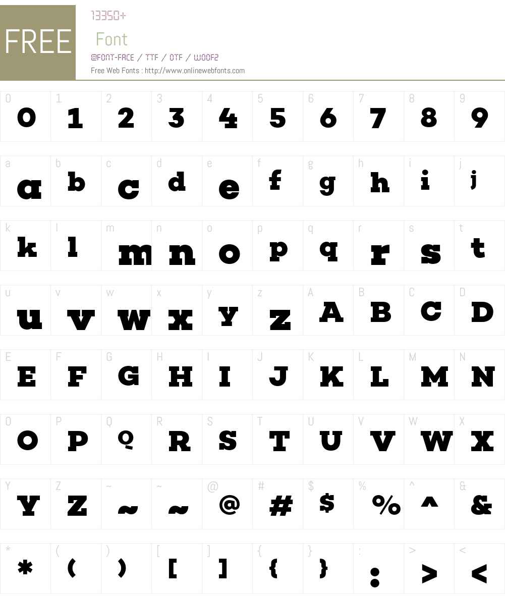 Choplin Font Screenshots