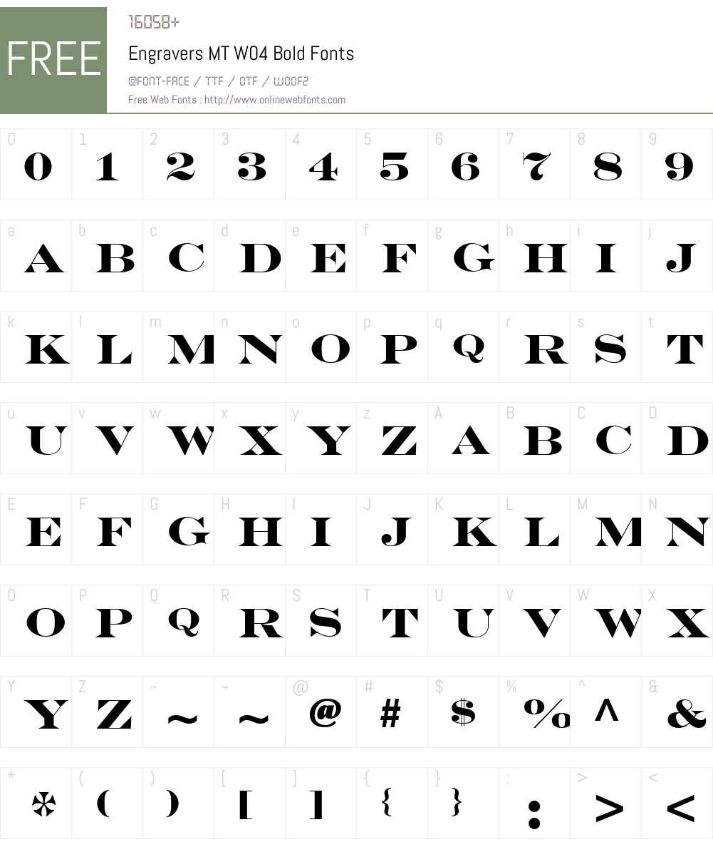 Engravers Font Screenshots