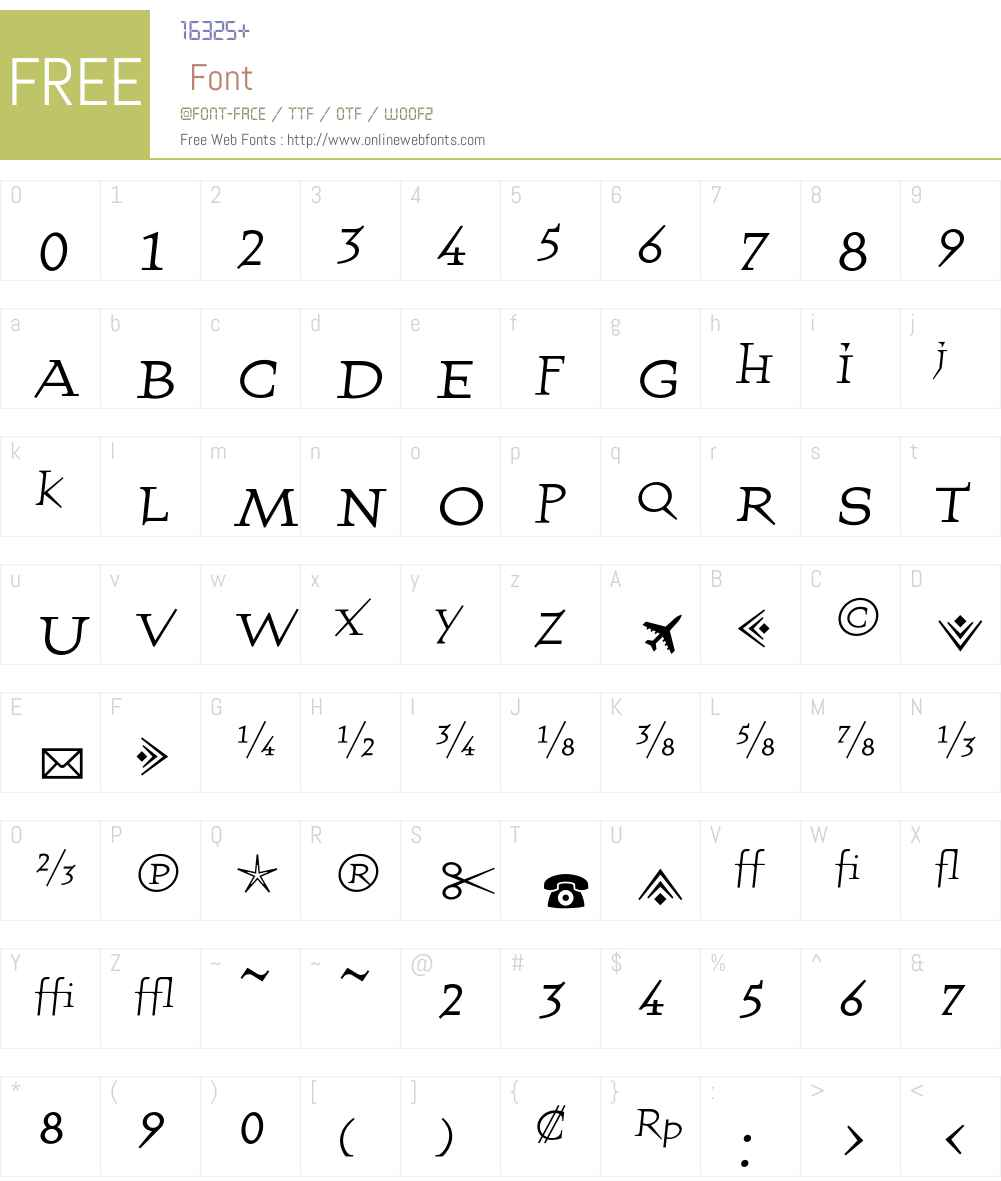 QuartetFractionsRegular Font Screenshots