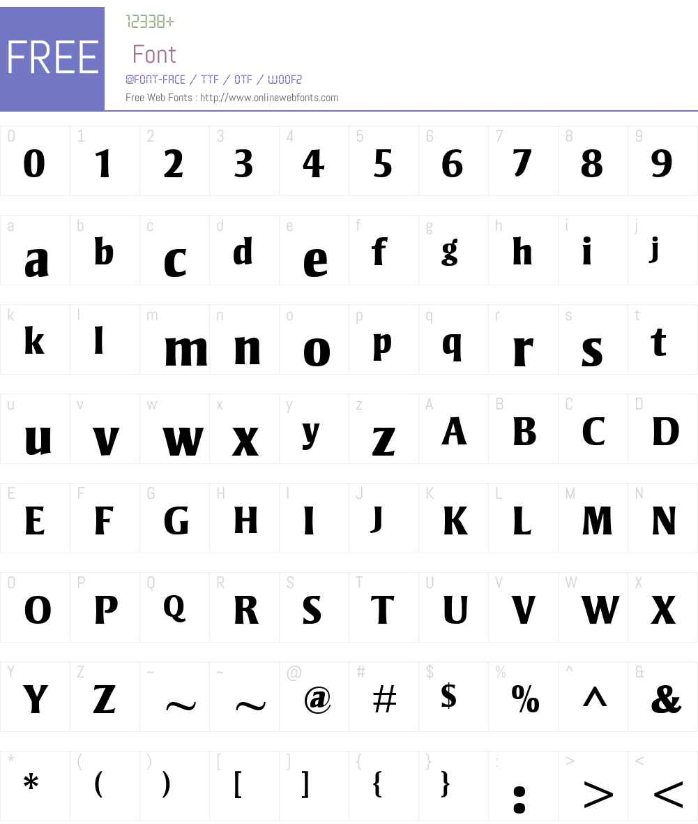 Strayhorn Font Screenshots