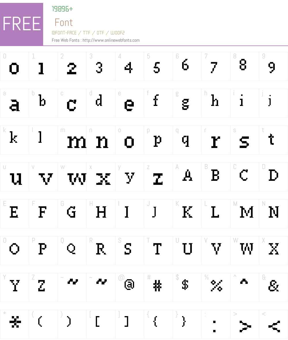PF Westa Seven Condensed Font Screenshots