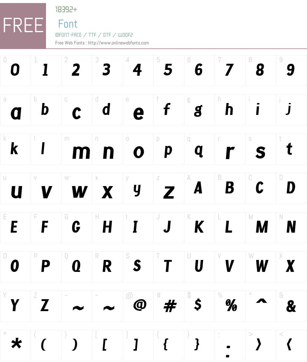 CrossellW01-BoldItalic Font Screenshots