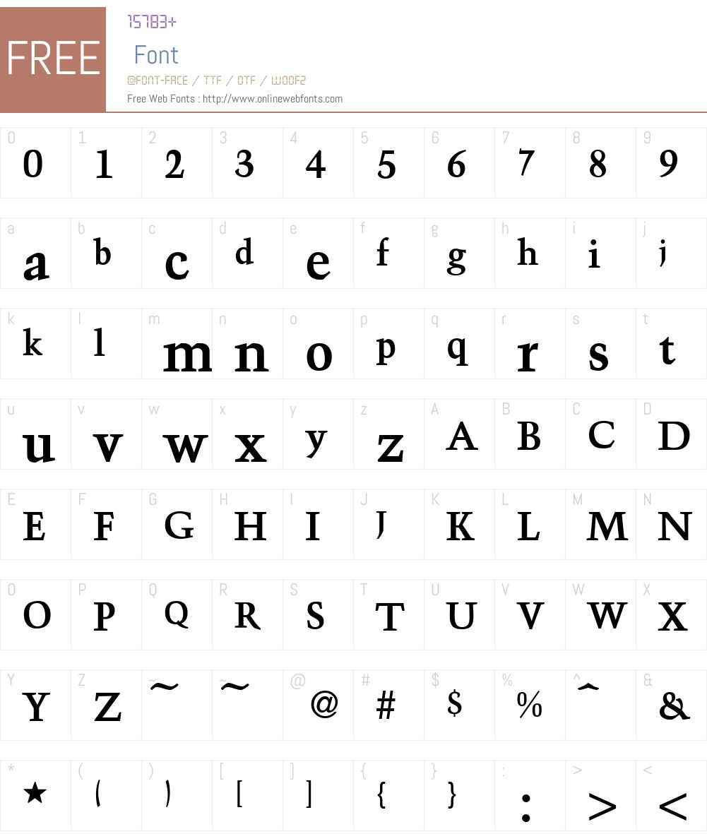 Troubadour Font Screenshots