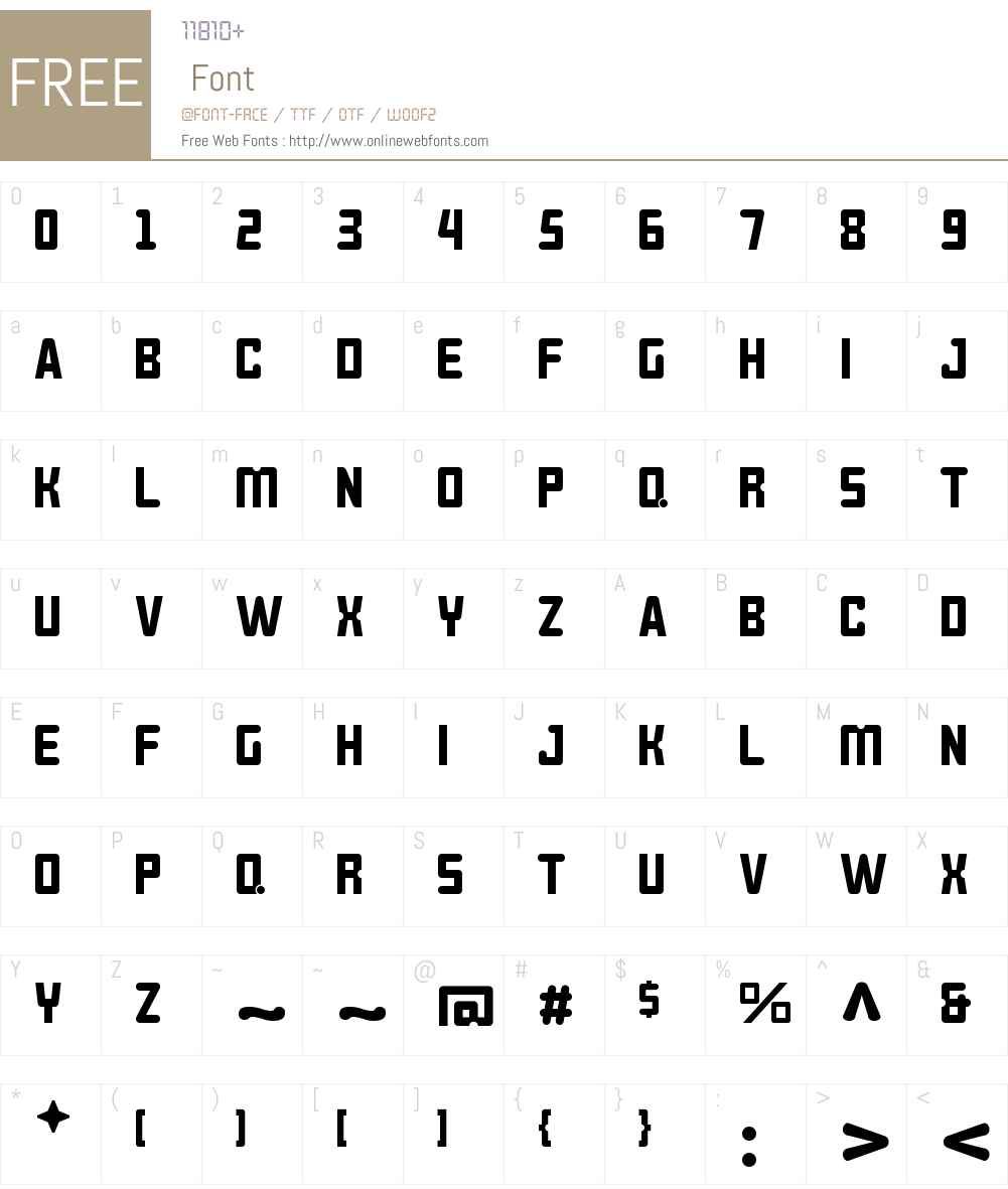 BROKEREN Font Screenshots