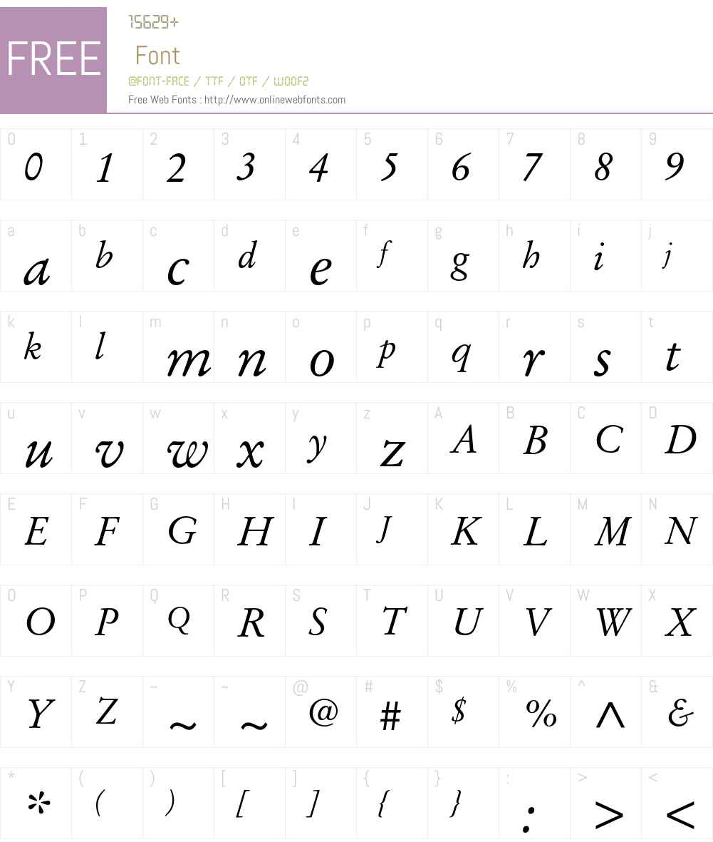 Stempel Garamond LT Std Font Screenshots