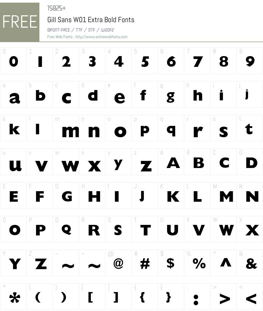 GillSansW01-ExtraBold Font Screenshots
