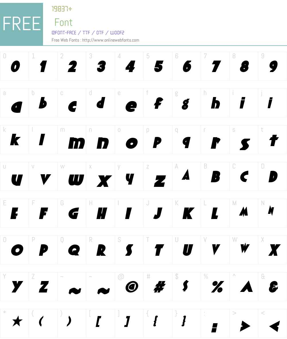 YachtW01-BlackItalic Font Screenshots