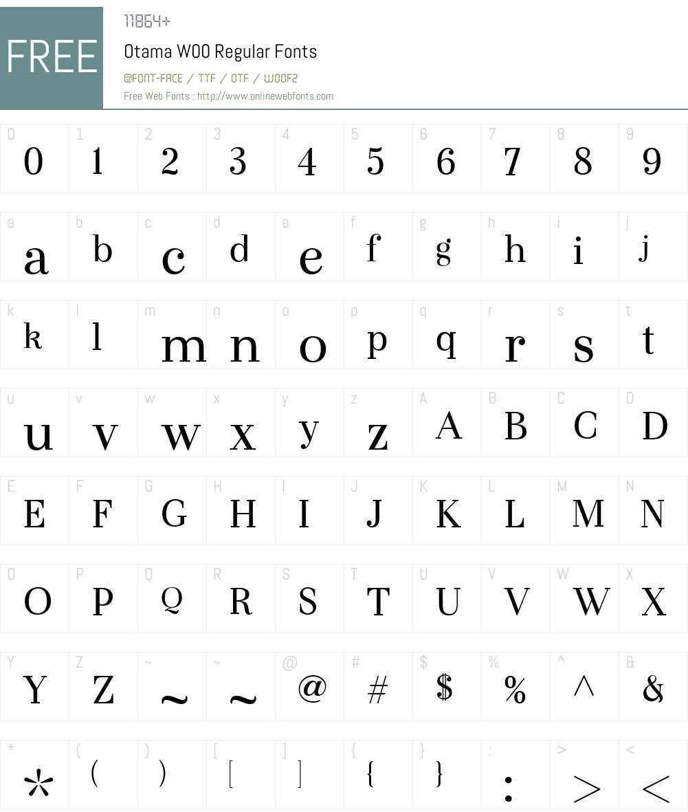 OtamaW00-Regular Font Screenshots