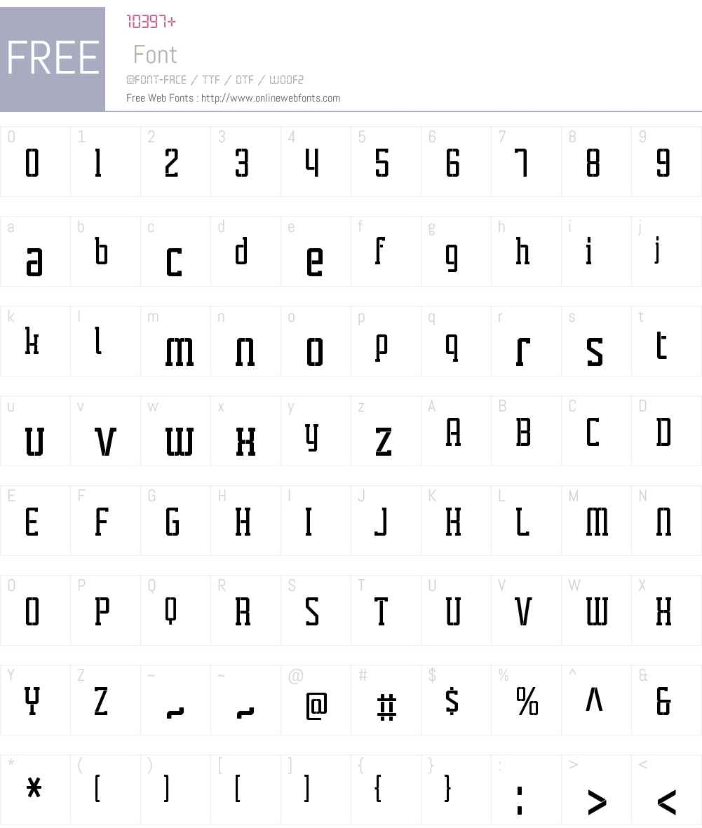 TecnicaSlabStencil1BdAltW01 Font Screenshots