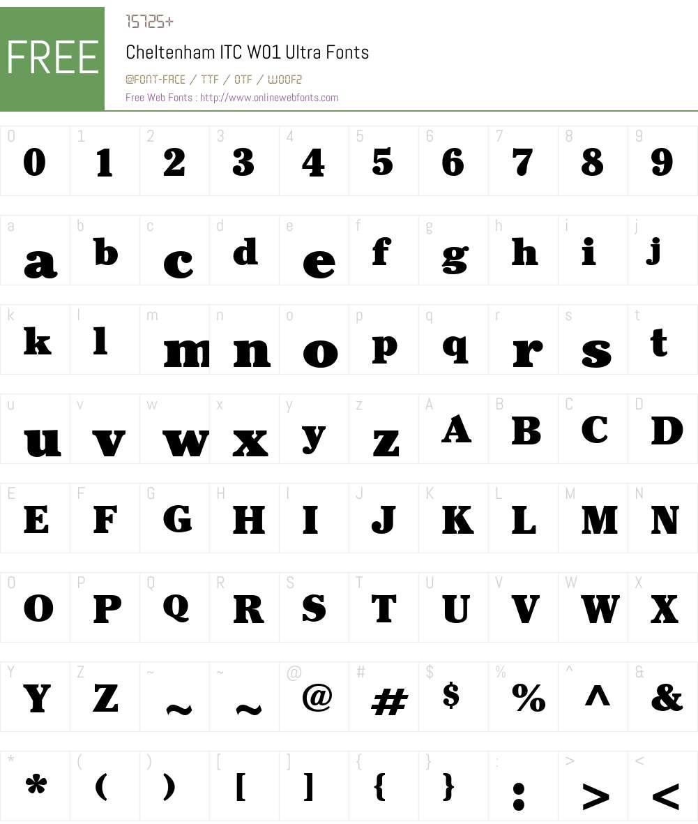 CheltenhamITCW01-Ultra Font Screenshots