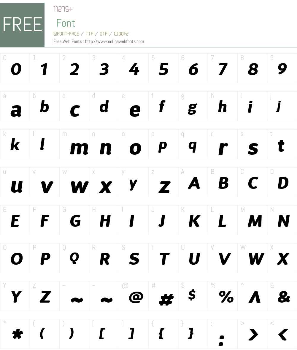 DSariW01-BlackItalic Font Screenshots