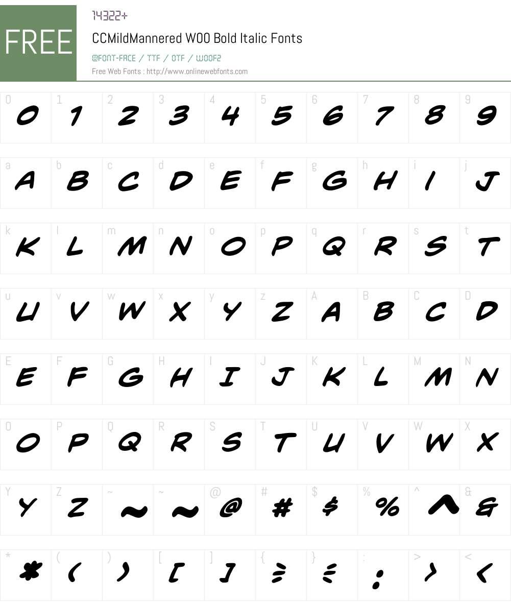 CCMildManneredW00-BoldIt Font Screenshots