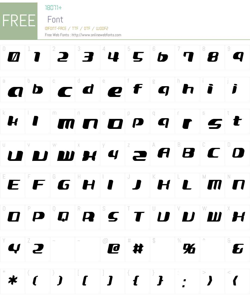 Curvic Font Screenshots