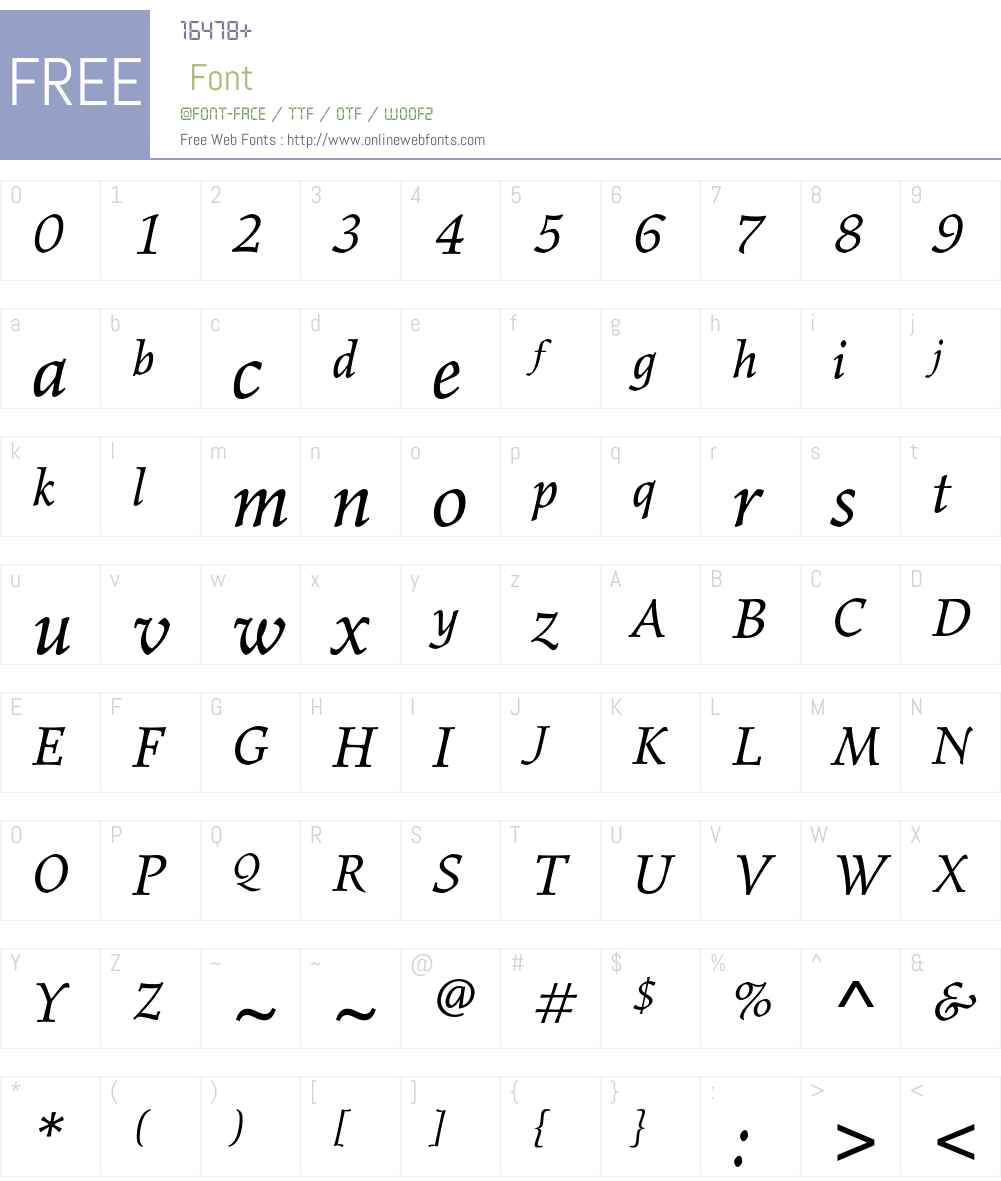 Elysium Std Font Screenshots