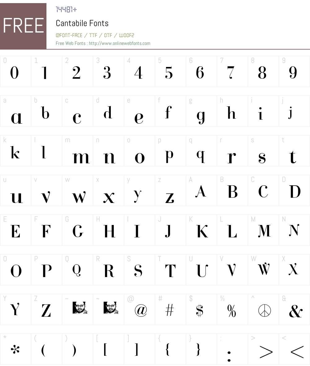Cantabile Font Screenshots