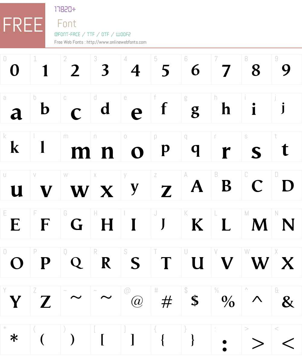 VegaAntikvaW00-Bold Font Screenshots