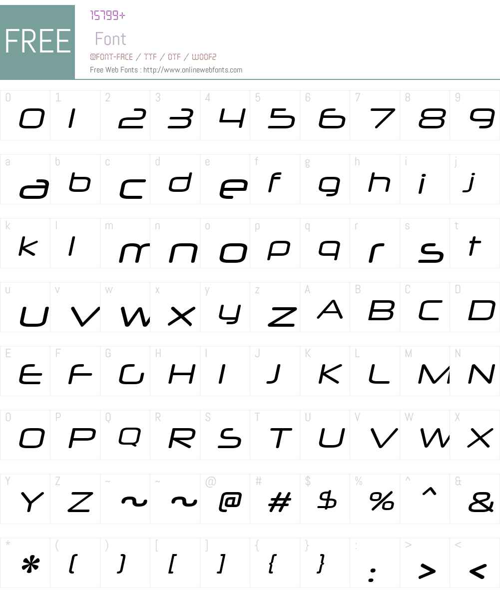 NeuropolXW00-Italic Font Screenshots