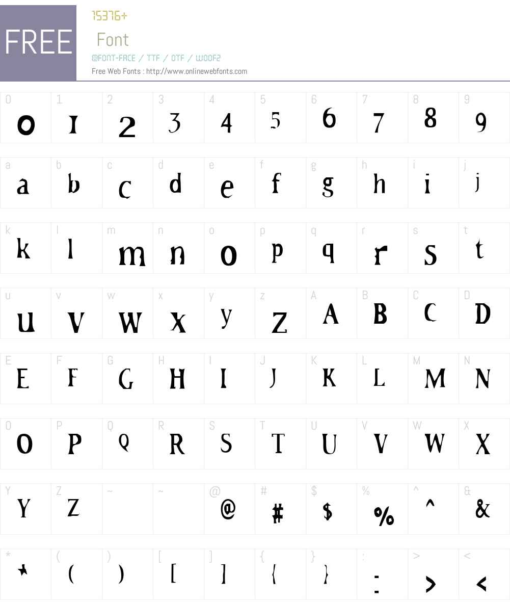 HateNote Font Screenshots